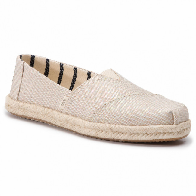 Espadrilky TOMS - Classic 10013508 Natural Realized Metallic Woven