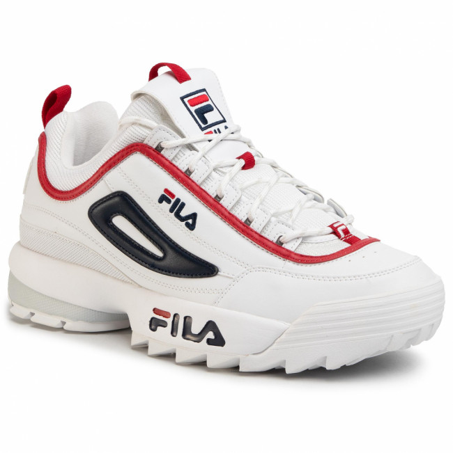 Sneakersy FILA - Disruptor Cb Low 1010707.92N White/Fila Navy/Fila Red