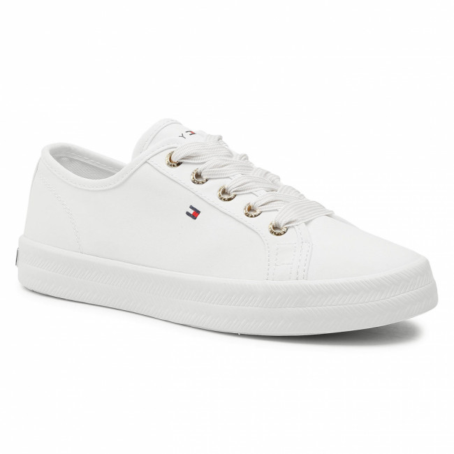 Tenisky TOMMY HILFIGER - Essential Nautical Sneaker FW0FW04848 White YBS
