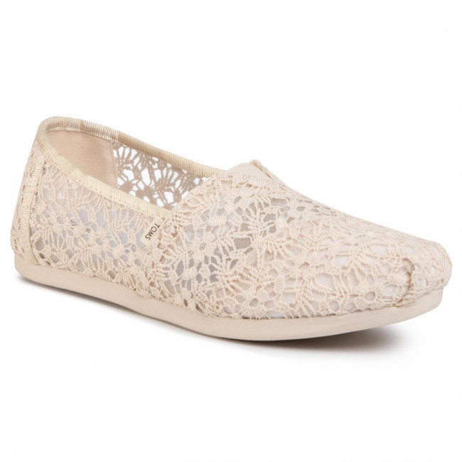 Poltopánky TOMS - Classic 10015069  Natural Floral Lace