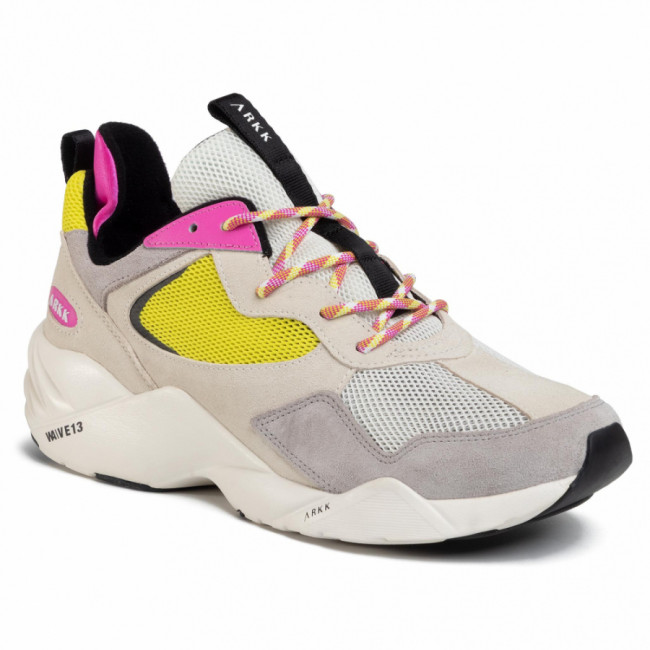 Sneakersy ARKK COPENHAGEN - Kanetyk Suede 2.0 W13 CR3805-0011-W Off White/Bright Lemon