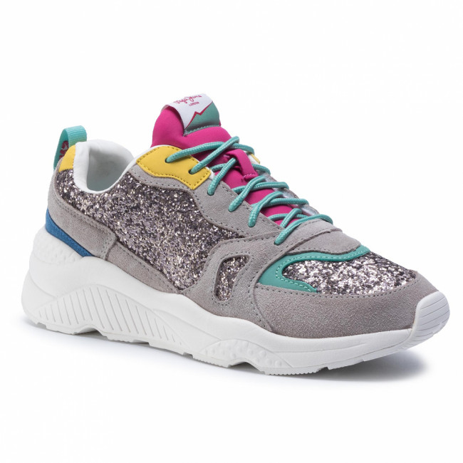 Sneakersy PEPE JEANS - Harlow Fantasy PLS30972 Argent 927