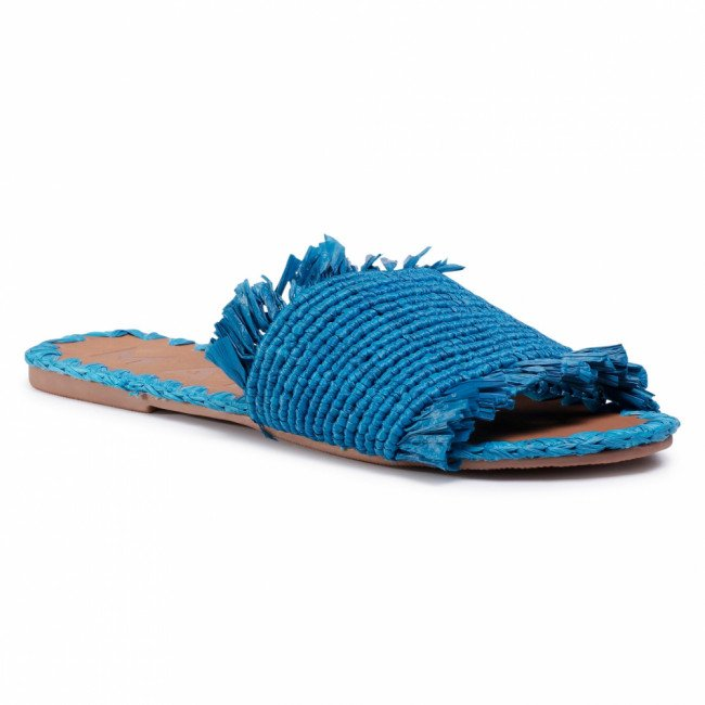 Šľapky MANEBI - Leather Sandals S 1.9 Y0 Electric Blue Fringed