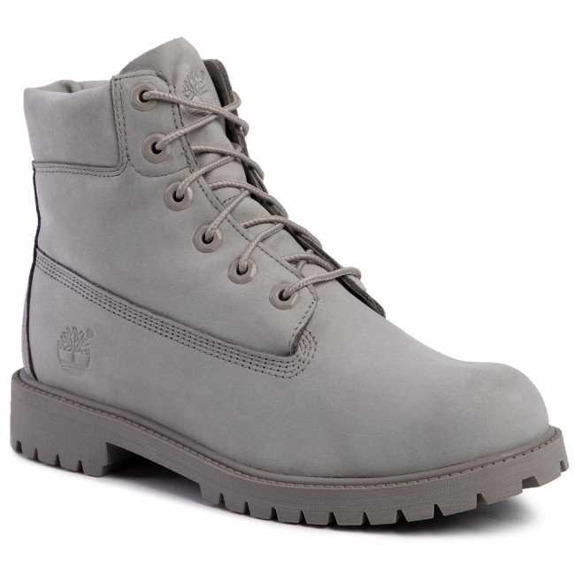 Outdoorová obuv TIMBERLAND - Premium 6 In Waterproof Boot TB0A172F0651 Medium Grey Nubuck
