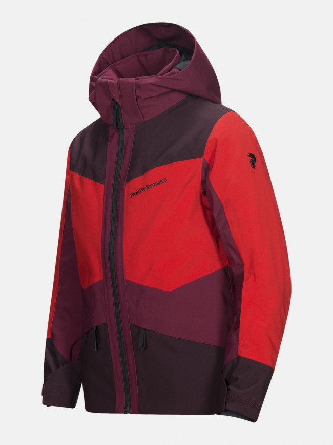 Bunda Peak Performance Jr Grav J Active Ski Jacket - Červená
