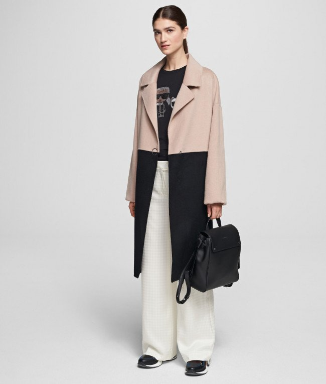 Kabát Karl Lagerfeld Colourblock Coat W/ Branding