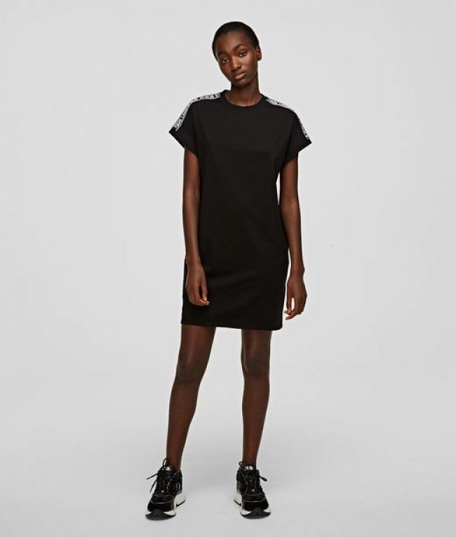 Šaty Karl Lagerfeld Mercerized Jersey Dress W/Logo