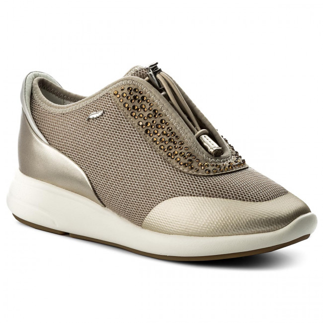 Sneakersy GEOX - D Ophira E D621CE 0GNAJ CH62L Lt Taupe/Lt Gold