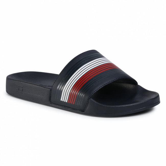Šľapky TOMMY HILFIGER - Seasonal Th Poolslide FM0FM02873 Desert Sky DW5
