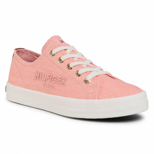 Tenisky TOMMY HILFIGER - Tommy Basic Sneaker FW0FW05123 Washed Watermelon Pink TKN