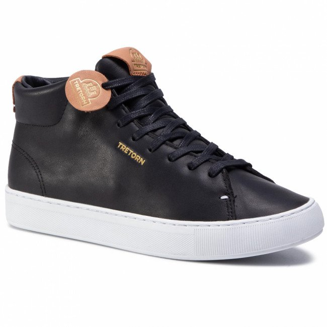 Sneakersy TRETORN - Tournament Leather Hi Wp 480137 Black/White