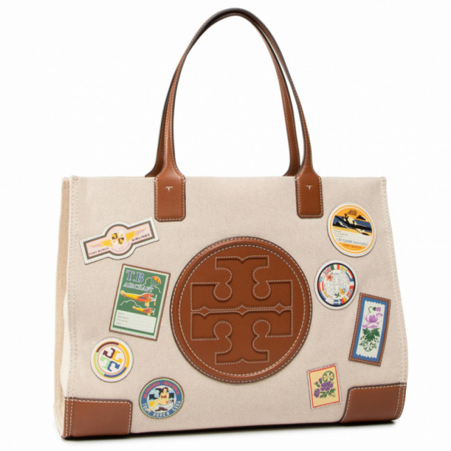 Kabelka TORY BURCH - Ella Patches Tote 64940 Natural 254