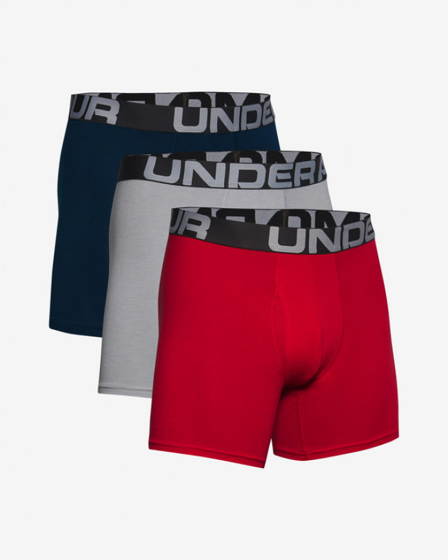 "Under Armour Charged Cotton® 6"" Boxerky 3 ks Modrá Červená Šedá"