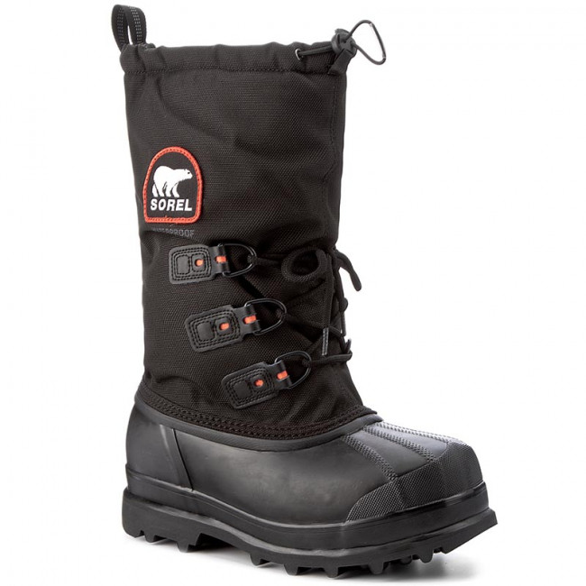 Snehule SOREL - Glacier Xt NM2130 Black/Red Quartz 010