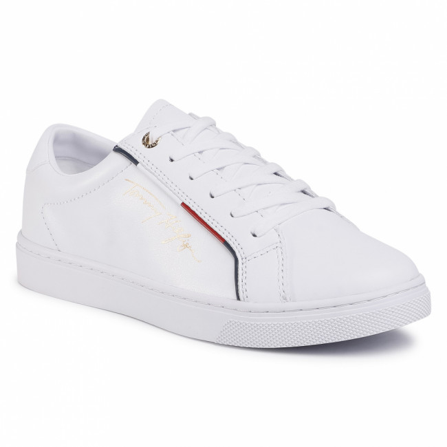 Sneakersy TOMMY HILFIGER - Signature Sneaker FW0FW05015 White YBR
