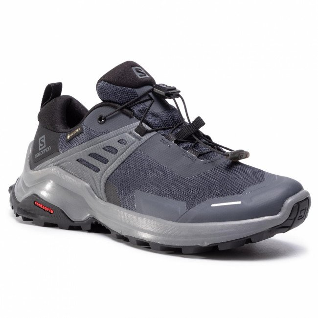 Trekingová obuv SALOMON - X Raise Gtx W GORE-TEX 409741 20 M0 Ebony/Black/Quiet Shade