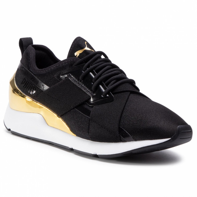 Sneakersy PUMA - Muse X-2 Metallic 370838 07 Puma Black/Puma Team Gold