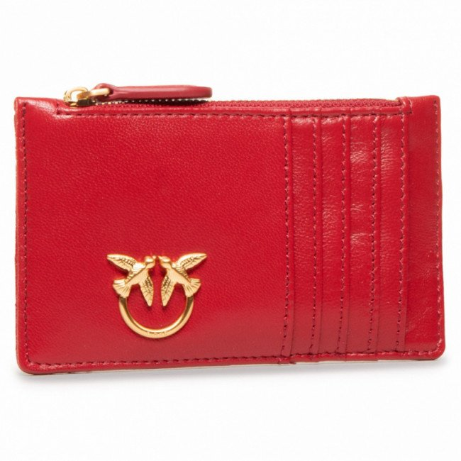 Púzdro na kreditné karty PINKO - Airone Credit Card Holder V Quil AI 20-21 PLTT 1P21UB Y6KT Ruby Red R72