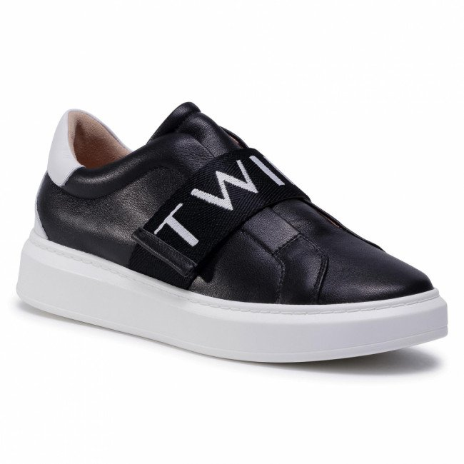Sneakersy TWINSET - 202TCP092  Nero/Antique White