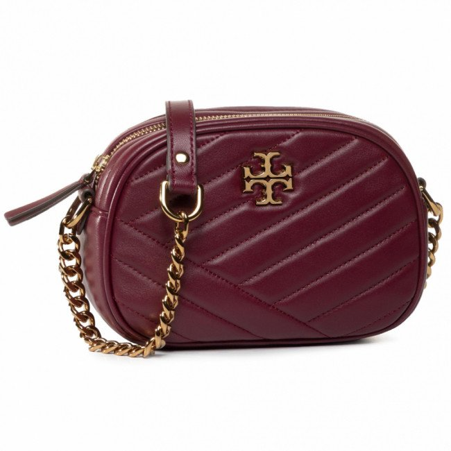 Kabelka TORY BURCH - Kira Chevron Camera Bag 60227 Imperial Garnet