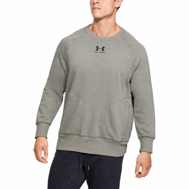 Mikina Under Armour SPECKLED FLEECE CREW-GRN