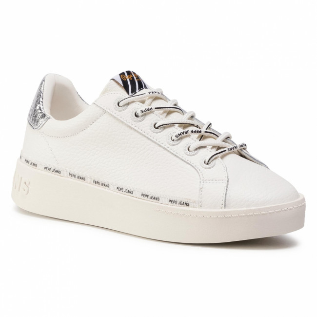 Sneakersy PEPE JEANS - Brixton Again PLS31025 Off White 803