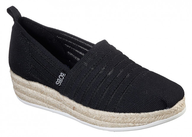 Skechers čierne espadrilky s jutou Highlights 2.0. Homestretch Black