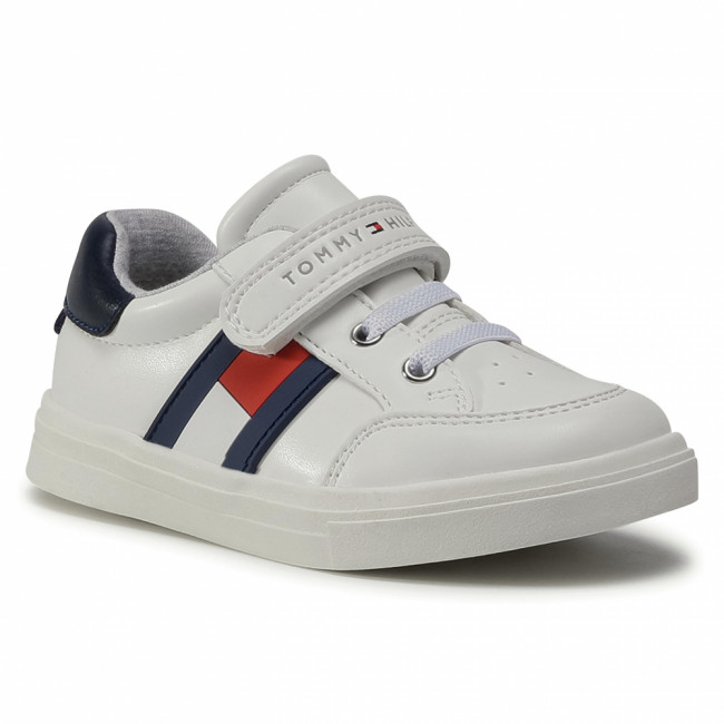 Sneakersy TOMMY HILFIGER - Low Cut Lace T1B4-30702-0622 S White/Blue/Red  Y003