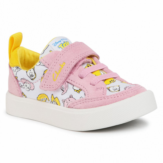 Sneakersy CLARKS - City Howdy T 261527106 Pink Combi