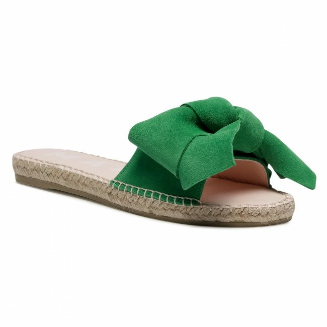 Espadrilky MANEBI - Sandals With Bow M 3.7 J0 Clover Green