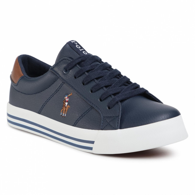Sneakersy POLO RALPH LAUREN - Evanston RF102504  Navy/Tan