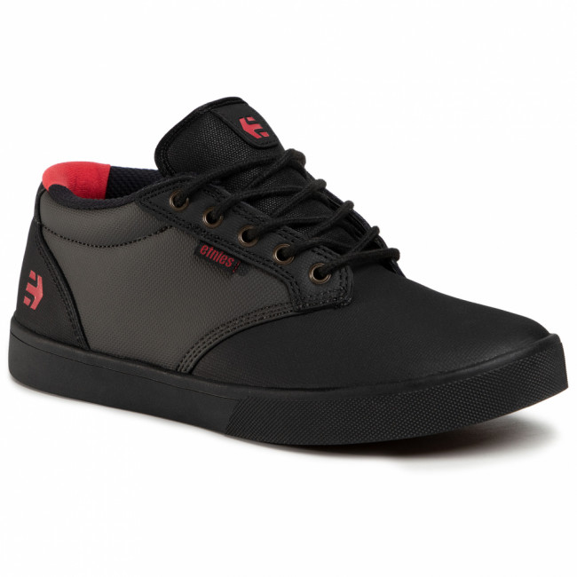 Sneakersy ETNIES - Jameson Mid Crank 4101000492 Black/Dark Grey/Red 565