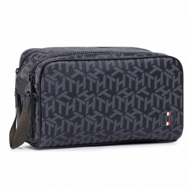 Kozmetická taštička TOMMY HILFIGER - Coated Canvas Washbag AM0AM06514 0GJ