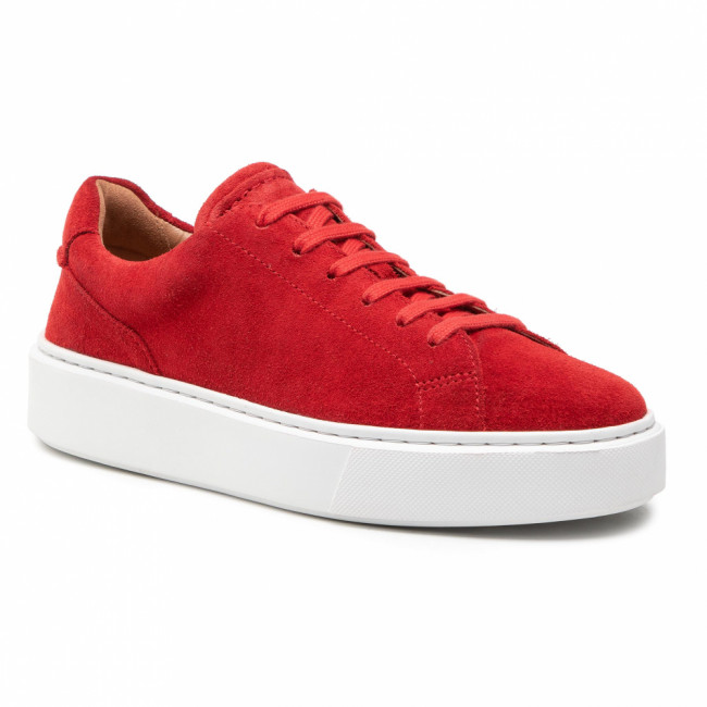 Sneakersy CLARKS - Hero Lite Lace 261548837  Red Suede