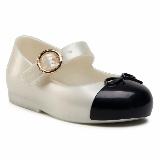Poltopánky MELISSA - Mini Melissa Sweet Love Cap To 33258 Pearly White/Black 53887