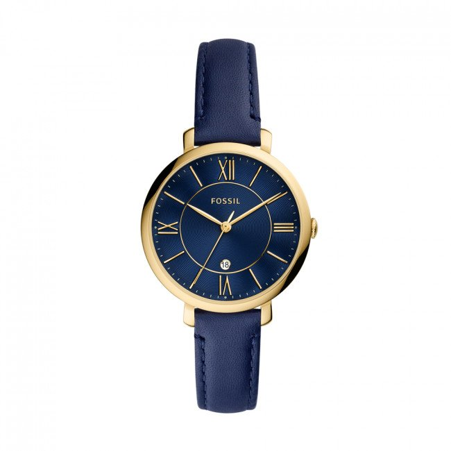 Hodinky FOSSIL - Jacqueline ES5023 Navy/Gold