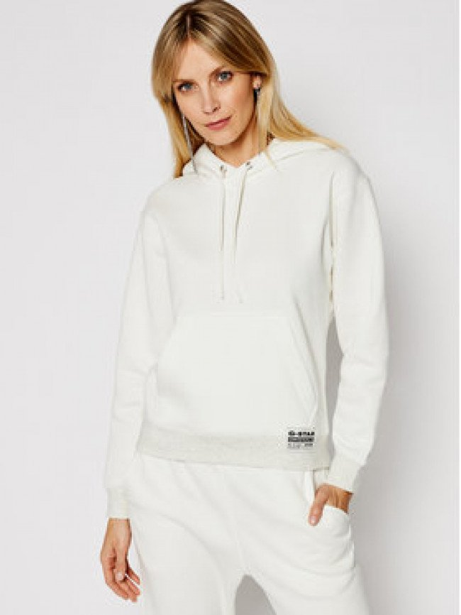 G-Star Raw Mikina Premium Core Hooded D17753-C235-111 Biela Regular Fit