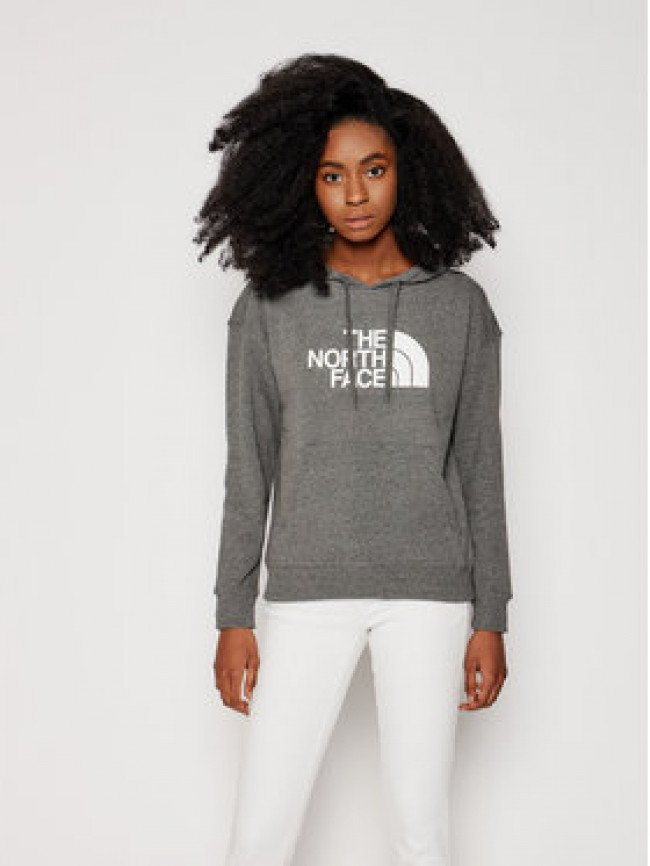 The North Face Mikina W Light Drew Peak Hoodie NF0A3RZ4DYY1 Sivá Regular Fit