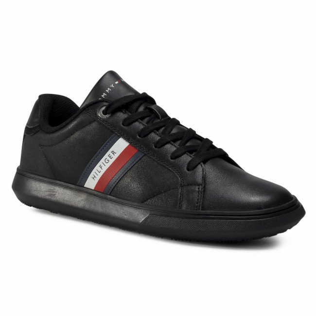 Sneakersy TOMMY HILFIGER - Essential Leather Cupsole FM0FM02987 Black BDS