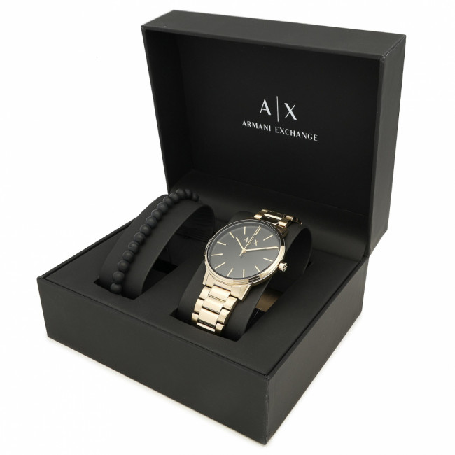 Hodinky ARMANI EXCHANGE - Cayde Gift Set AX7119 Gold/Gold