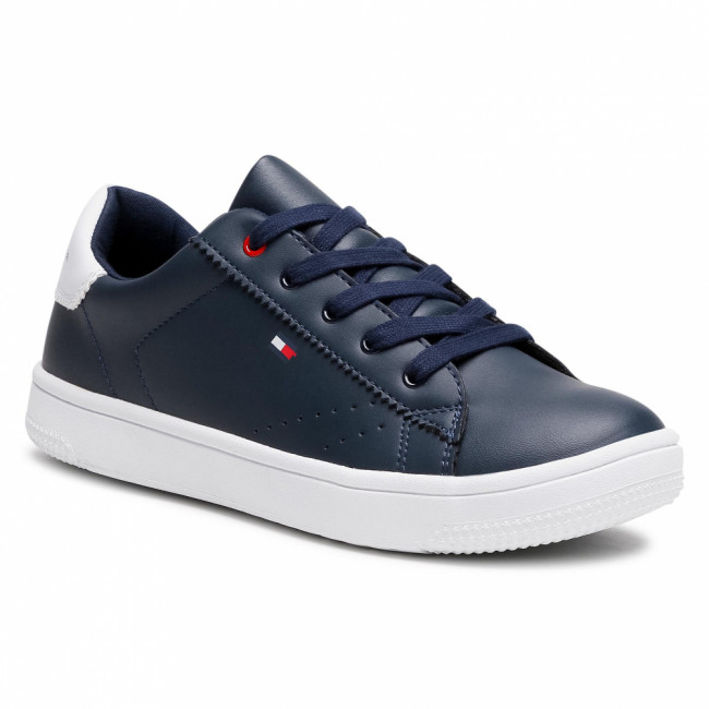 Sneakersy TOMMY HILFIGER - Low Cut Lace Up Sneaker T3B4-31086-0193 S Blue/White X007