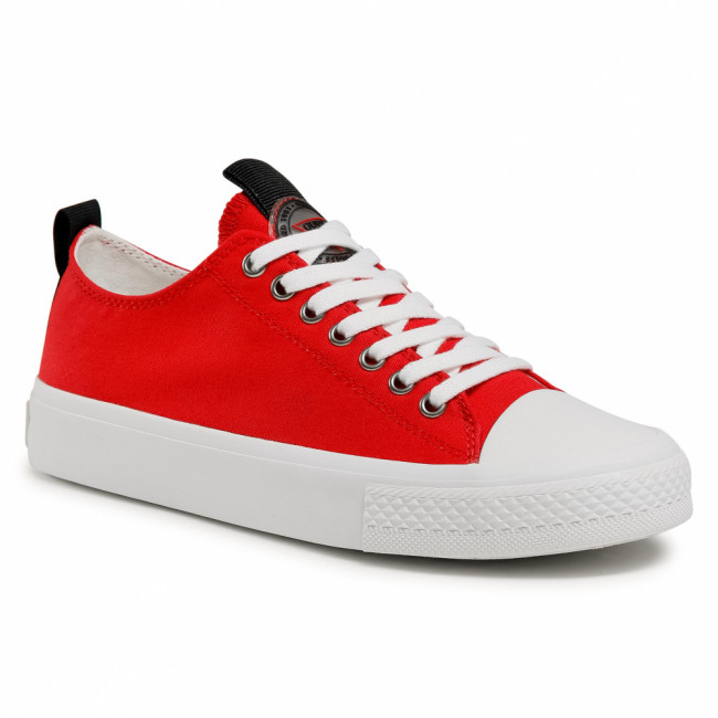Tramky GUESS - Ederla Low Cut FL5ERL FAB12 RED