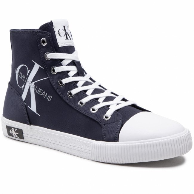 Tramky CALVIN KLEIN JEANS - Vulcanized High Laceup Pes YM0YM00020 Night Sky CHW