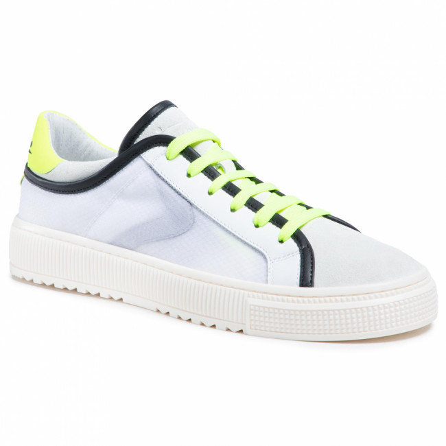Sneakersy VOILE BLANCHE - Fit Mesh 0012015715.01.1N17 White/Yellow