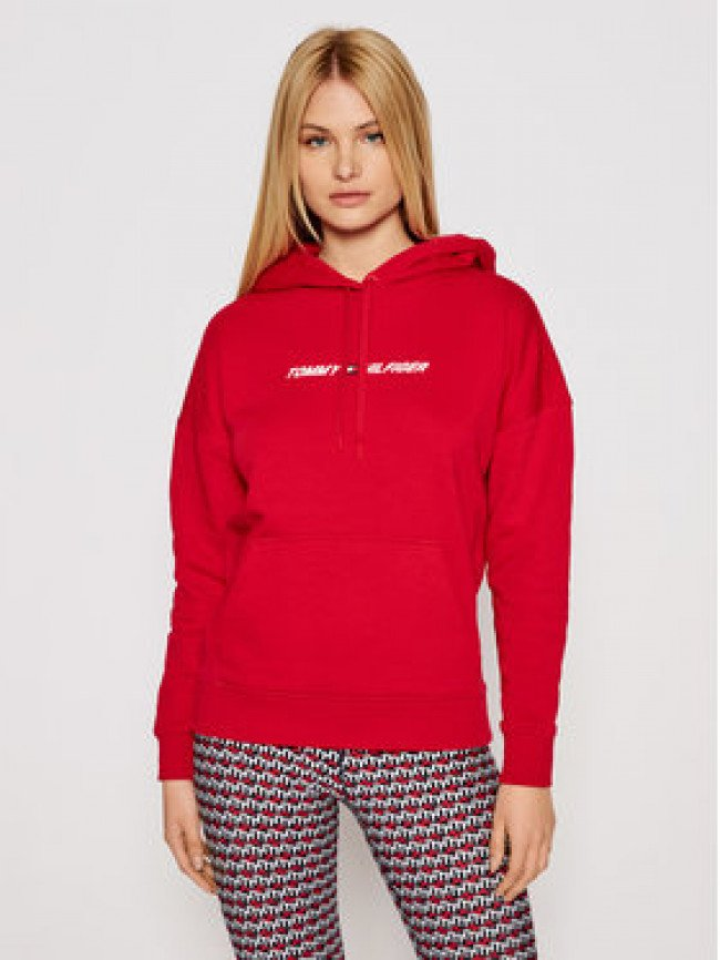 Tommy Hilfiger Mikina Graphic Hoodie Ls S10S100980 Červená Relaxed Fit