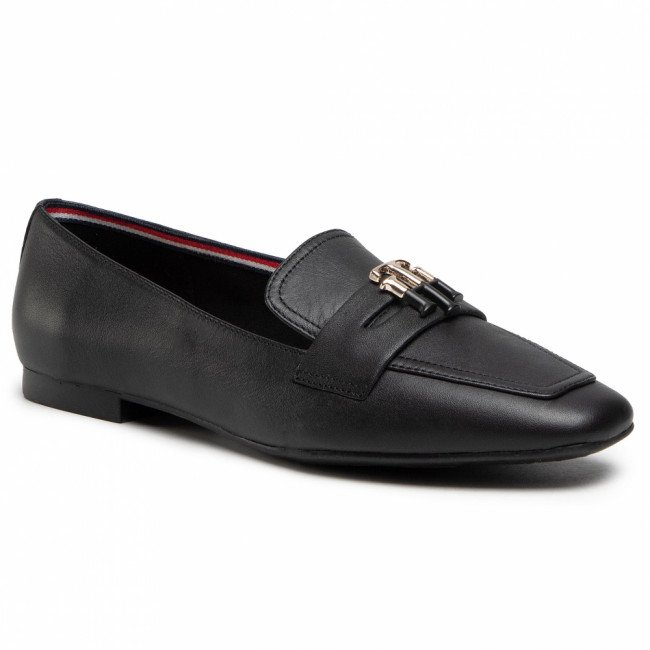 Lordsy TOMMY HILFIGER - Essential Leather Loafer FW0FW05684 Black BDS