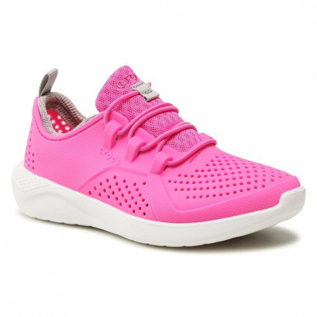 Sneakersy CROCS - Literide Pacer K 206011 Electric Pink/White
