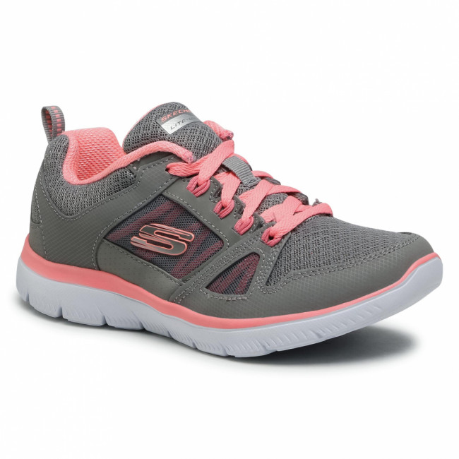 Topánky SKECHERS - New World 12997/GYCL Gray/Coral