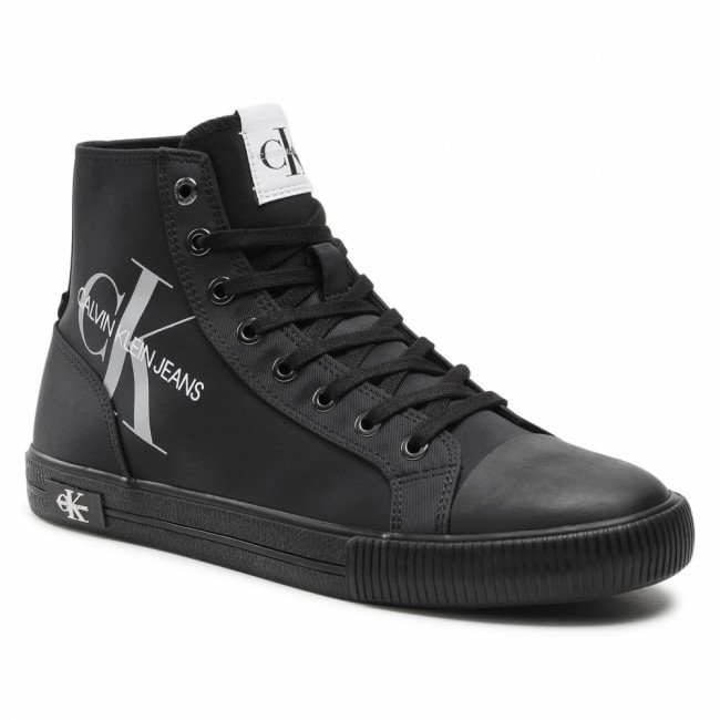 Tramky CALVIN KLEIN JEANS - Vulcanized High Laceup Pes YM0YM00020 Black BDS