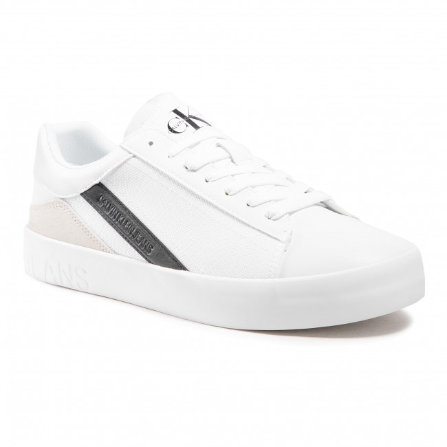 Sneakersy CALVIN KLEIN JEANS - Vulcanized Sneaker Laceup Lth-Pu YM0YM00067 Bright White YAF